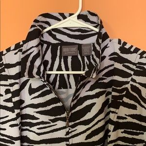Auditions Dresses - Auditions by Chico's Zip-up Zebra Print Dress